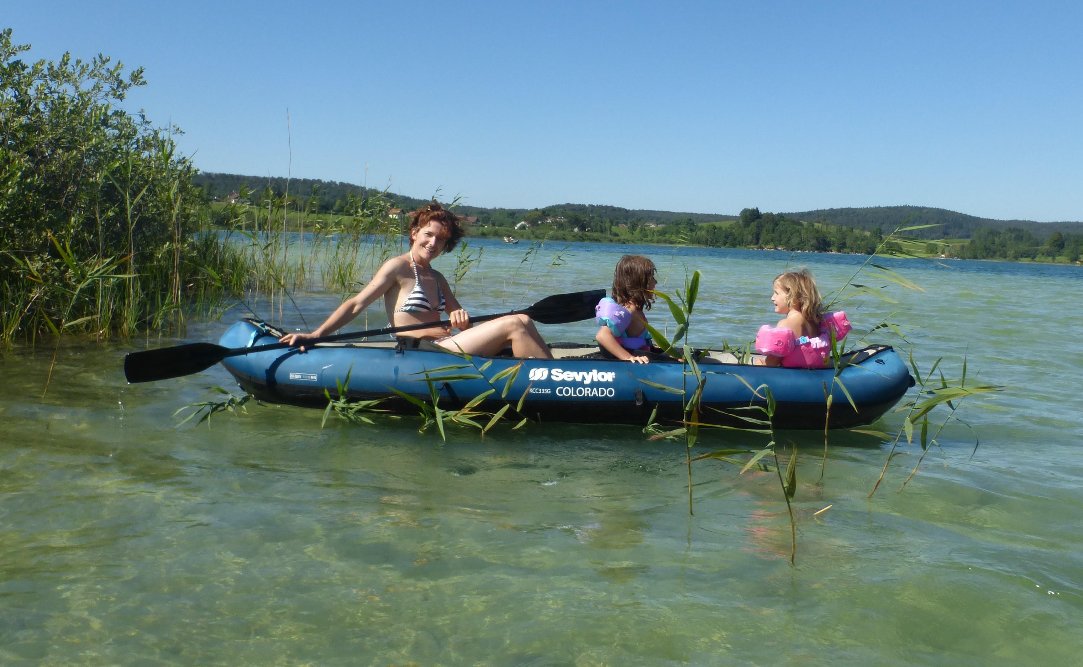 Lac en Kayak - Gîte Haut Jura